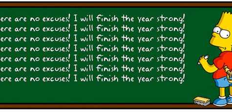 Finish the Year Strong! (Editorial)